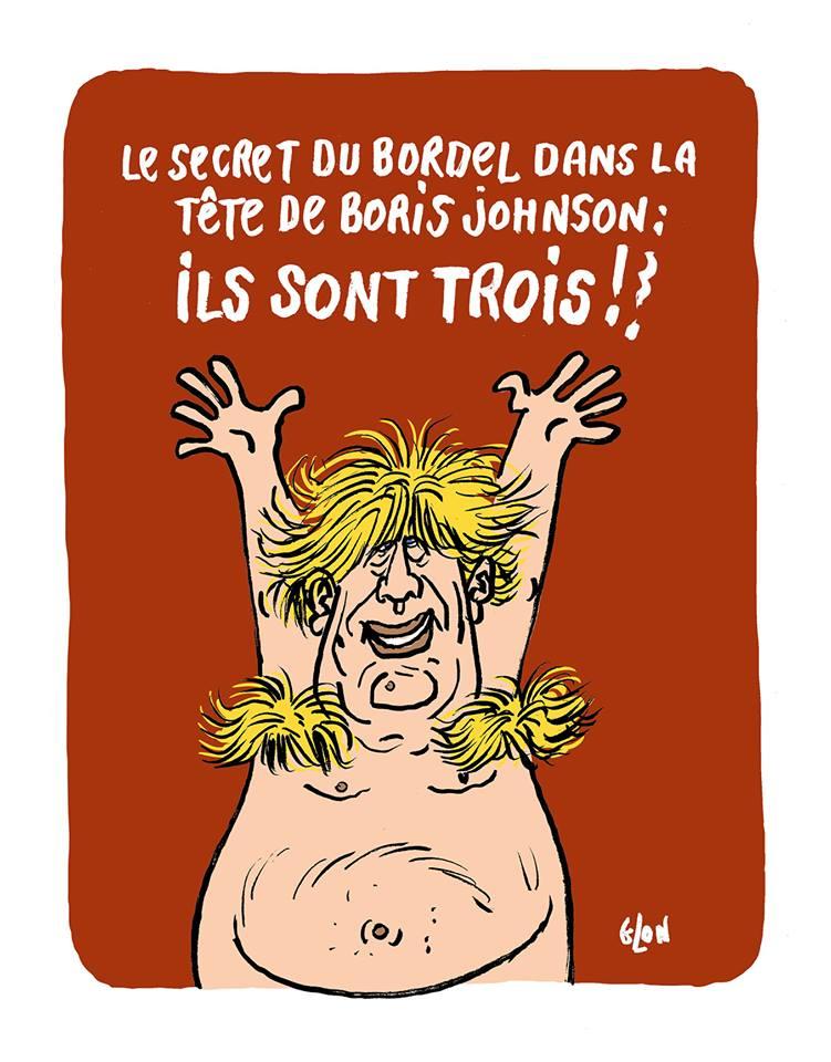 dessin humoristique de Glon sur Boris Johnson