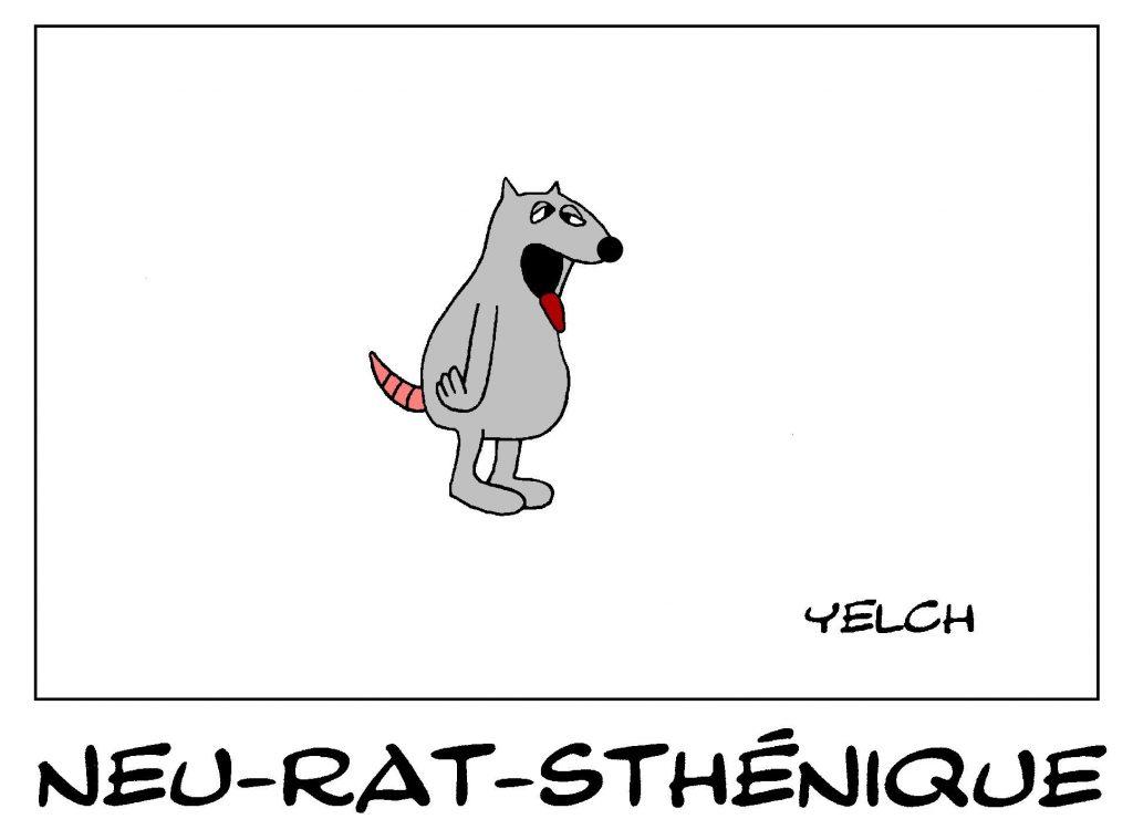 dessin de Yelch sur la neurasthénie ou fatigue chronique