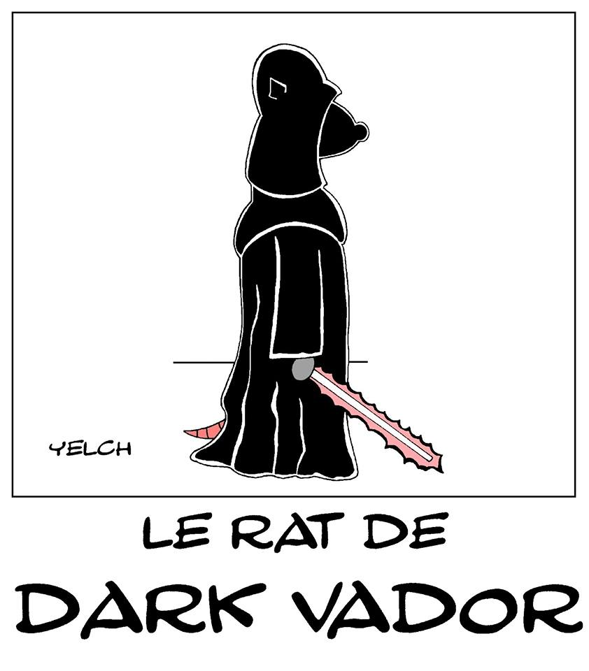 dessin de Yelch sur Star Wars et Dark Vador
