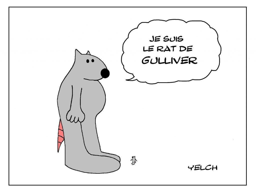 dessin de Yelch sur Les Voyages de Gulliver de Jonathan Swift
