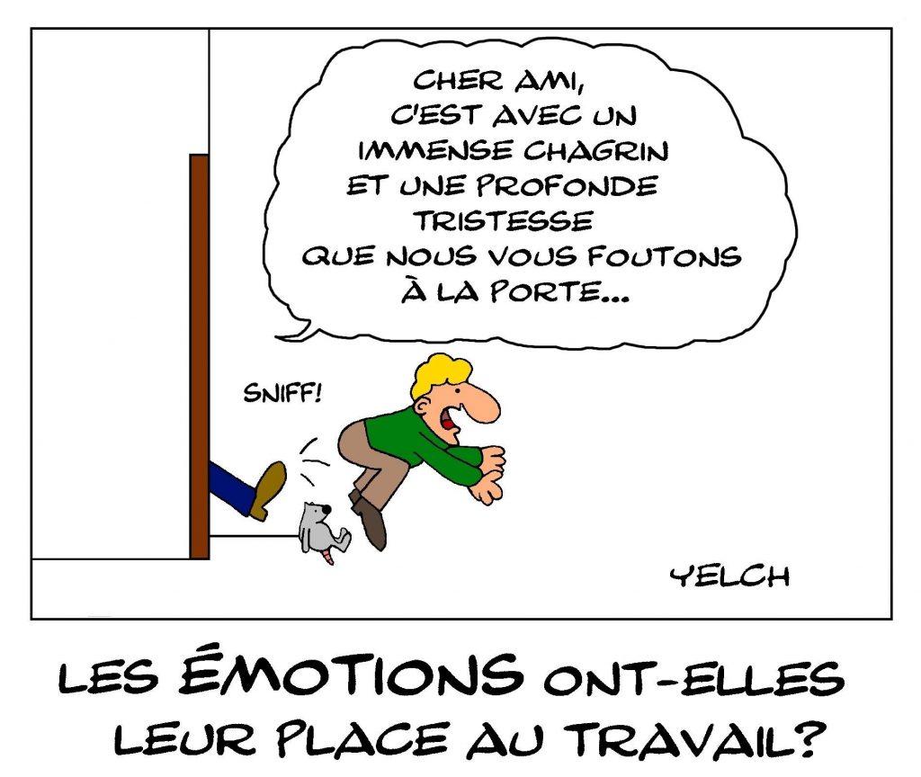 dessin de Yelch sur les émotions dans le monde du travail