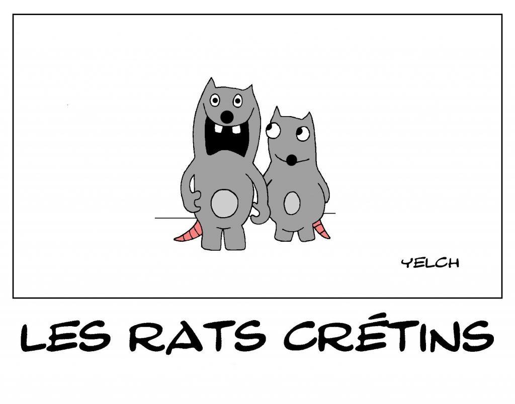 dessin de Yelch sur les lapins crétins d'Ubisoft
