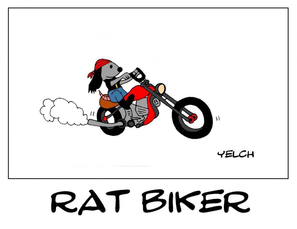 dessin de Yelch sur les bikers