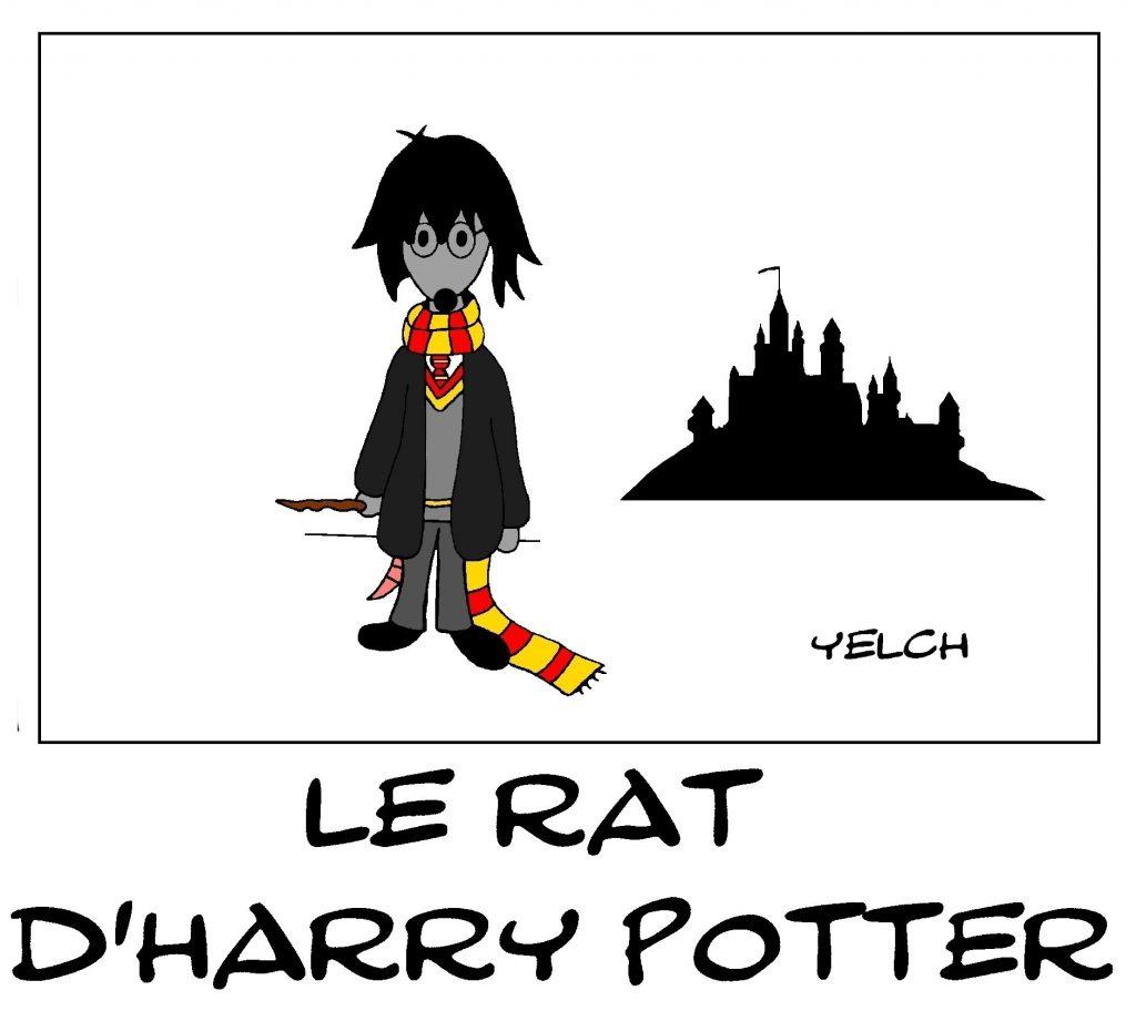 dessin de Yelch sur Harry Potter