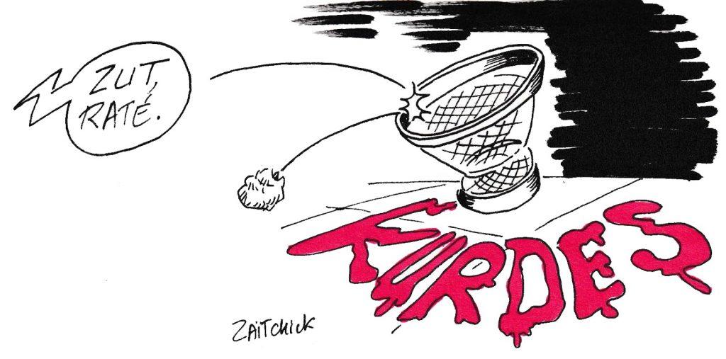 dessin de Zaïtchick sur l'offensive turque contre les Kurdes