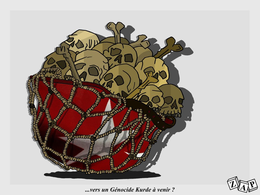 dessin d'actualité de Zap sur l'offensive turque contre les Kurdes