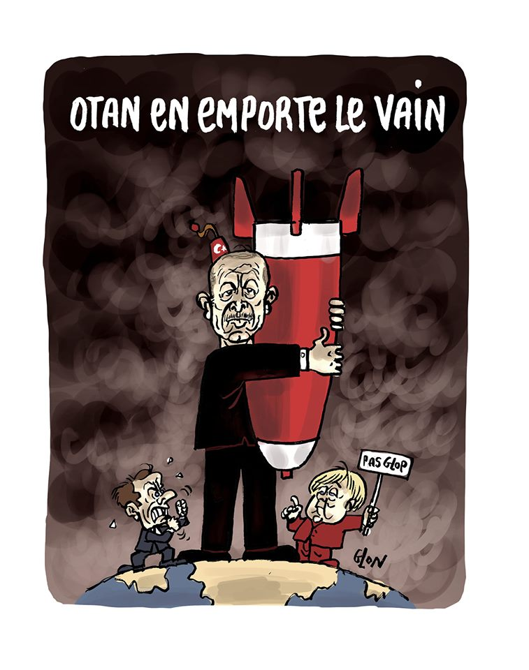 dessin humoristique de Glon sur l'offensive turque contre les Kurdes et l'impuissance de l'union européenne