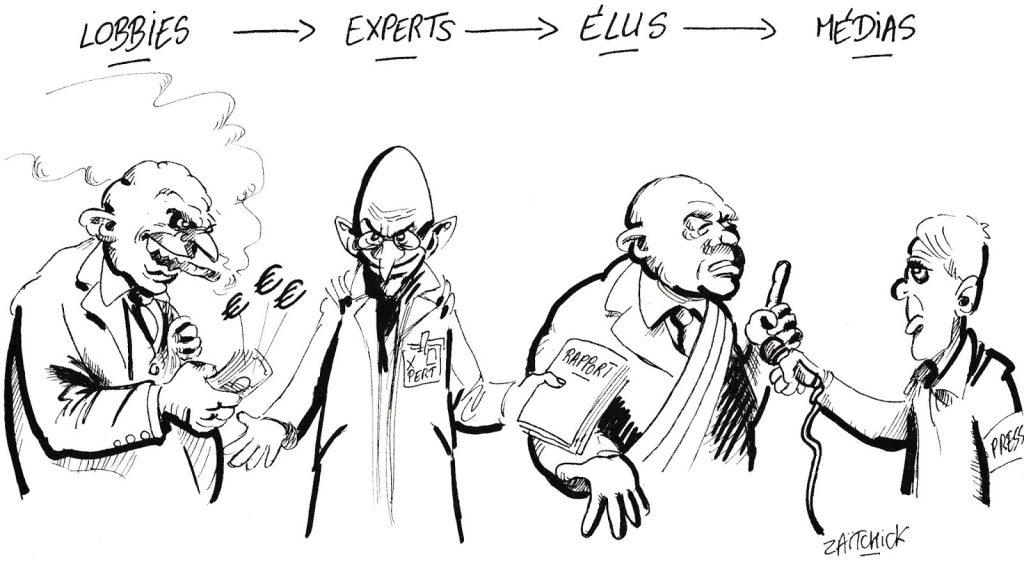 dessin de Zaïtchick sur la chaîne de l'information