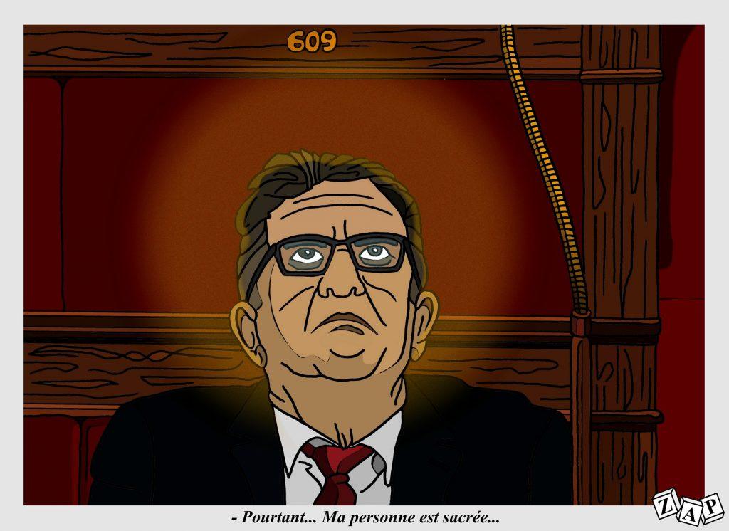 dessin d'actualité de Zap sur Jean-Luc Mélenchon