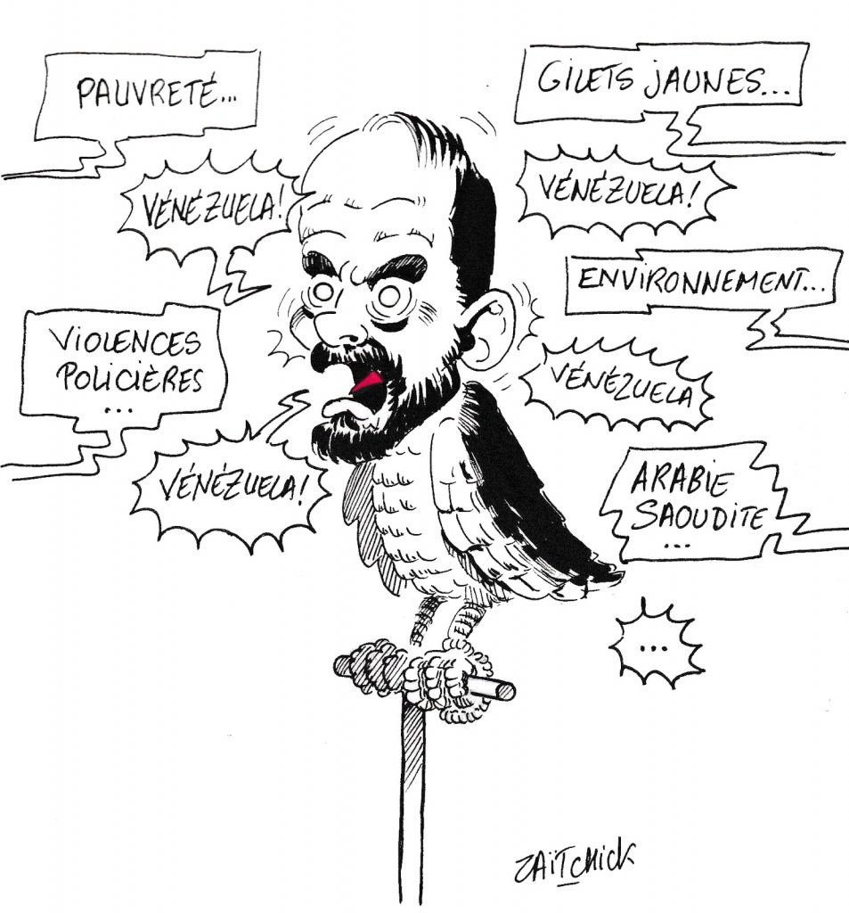 dessin de Zaïtchick sur la réponse d'Édouard Philippe à la question d'une député de la France Insoumise