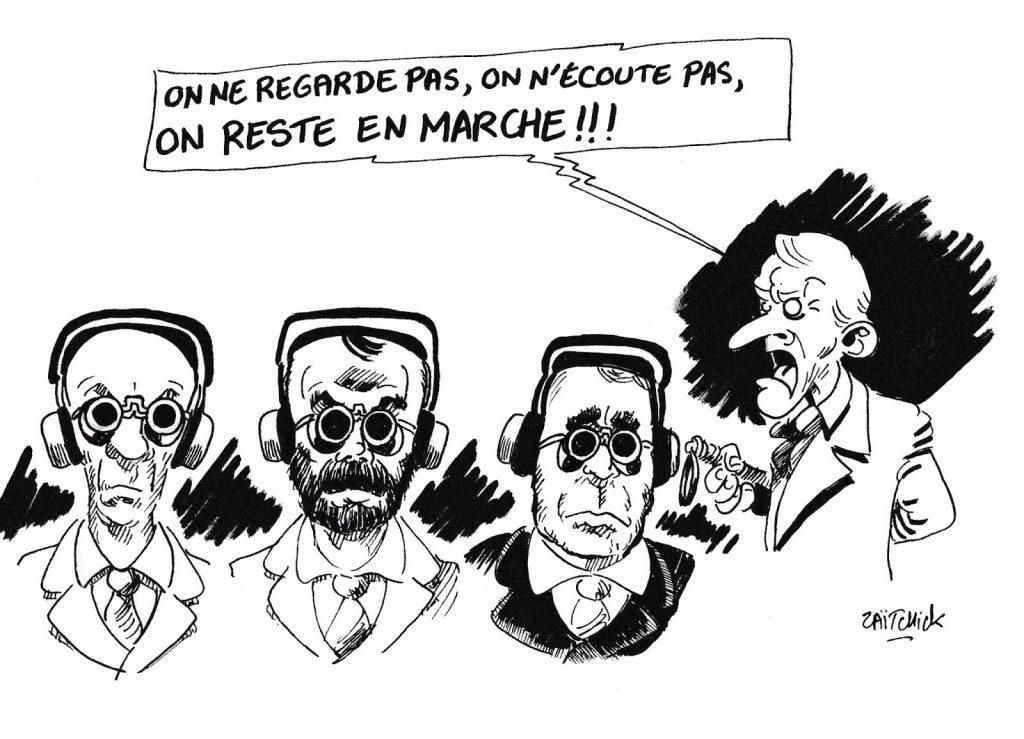 dessin de Zaïtchick sur Emmanuel Macron et la République en Marche