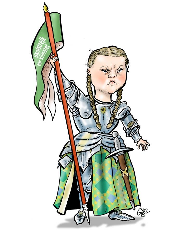 dessin humoristique de Glez sur Greta Thunberg