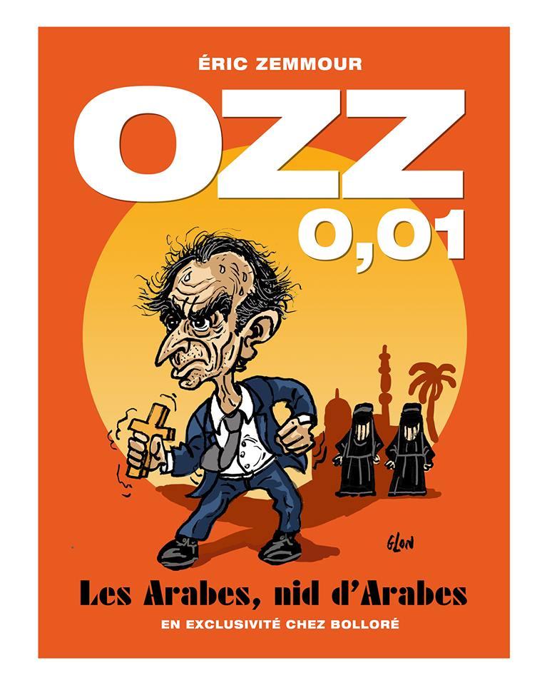 dessin humoristique de Glon sur Éric Zemmour