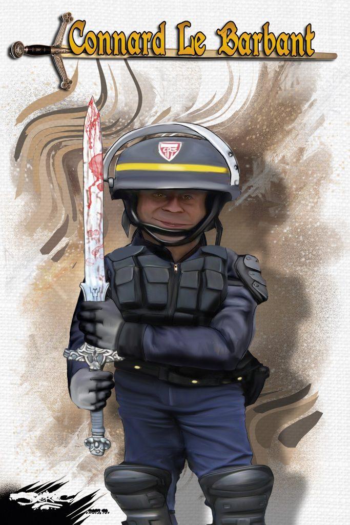 dessin d'actualité humoristique de Jerc sur les CRS et les violences policières