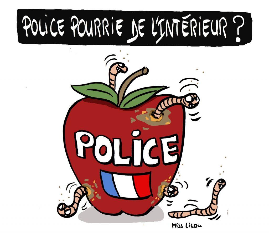dessin de Miss Lilou sur l'attaque au couteau à la préfecture de police de Paris