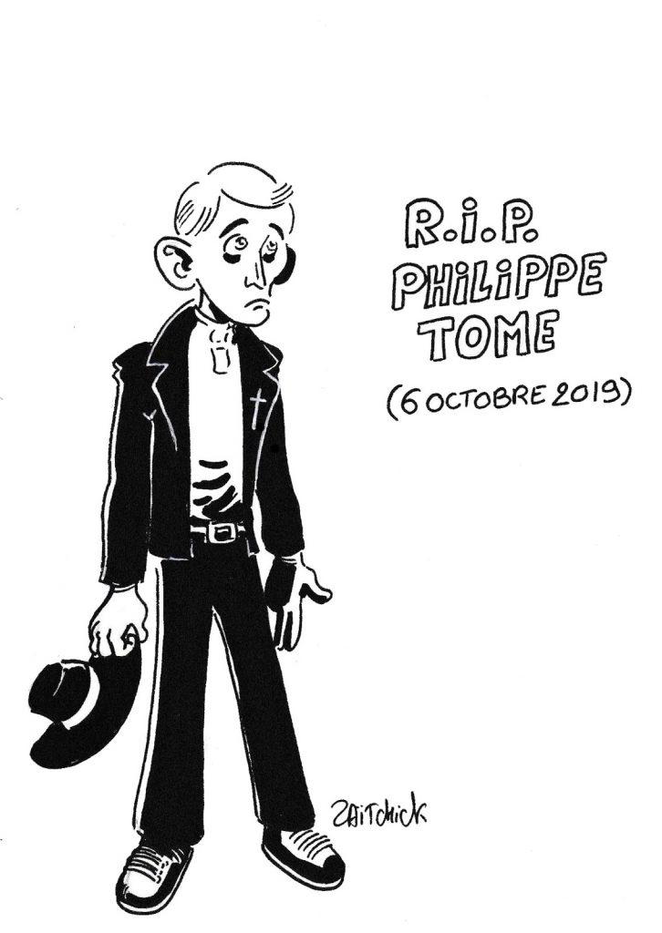 dessin de Zaïtchick sur la mort de Philippe Tome