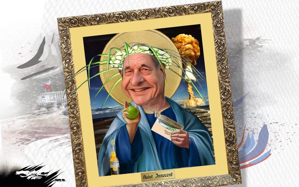 dessin d'actualité humoristique de Jerc sur la mort de Jacques Chirac