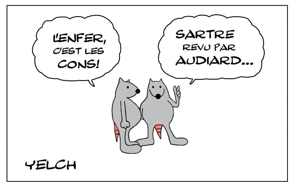 dessin de Yelch sur l'Enfer et les cons