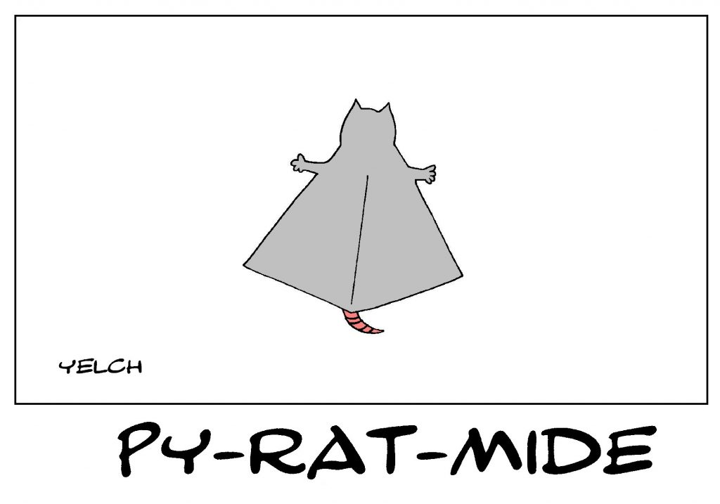 dessin de Yelch sur les pyramides