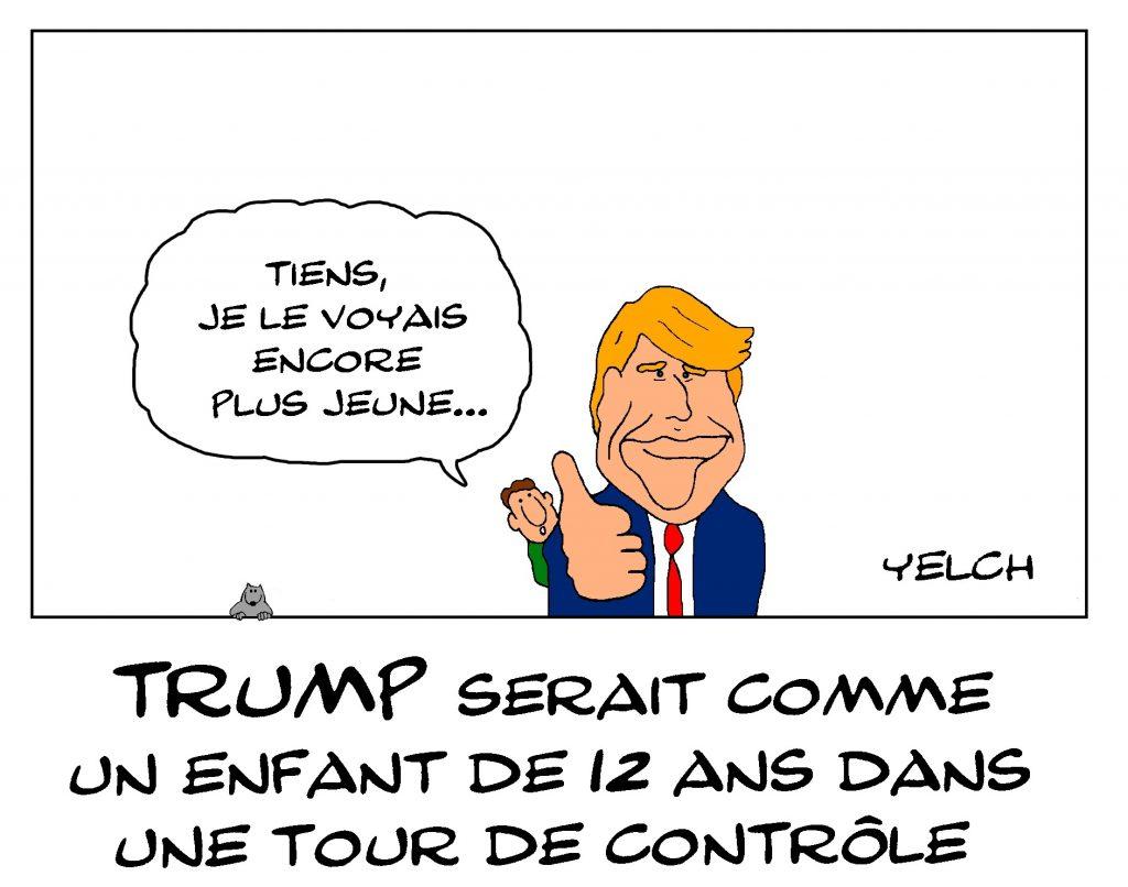 dessin de Yelch sur le livre écrit par un haut fonctionnaire américain sur Donald Trump