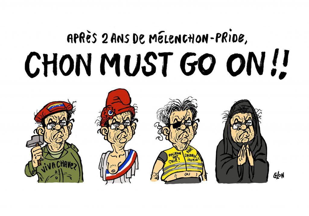 dessin humoristique de Glon sur Jean-Luc Mélenchon