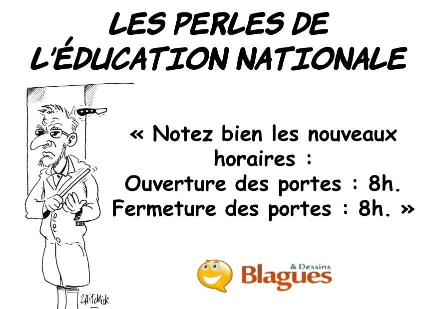 les perles des professeurs, les perles de l'Éducation Nationale