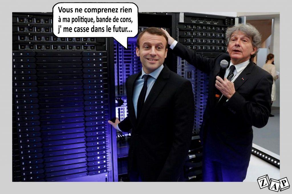 dessin d'actualité de Zap sur Emmanuel Macron