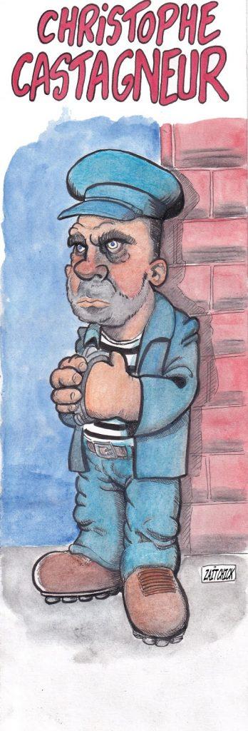 Caricature de Zaïtchick sur Christophe Castaner