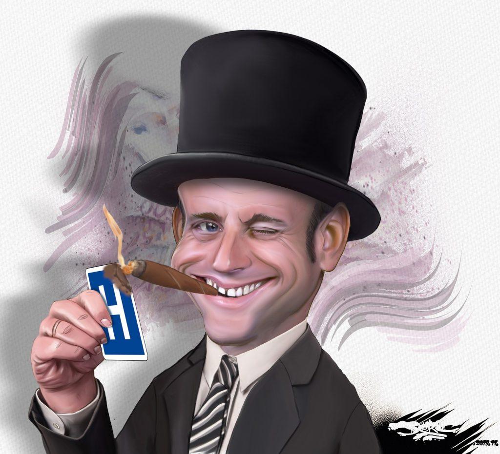 dessin d'actualité humoristique de Jerc sur la réforme de la santé d'Emmanuel Macron