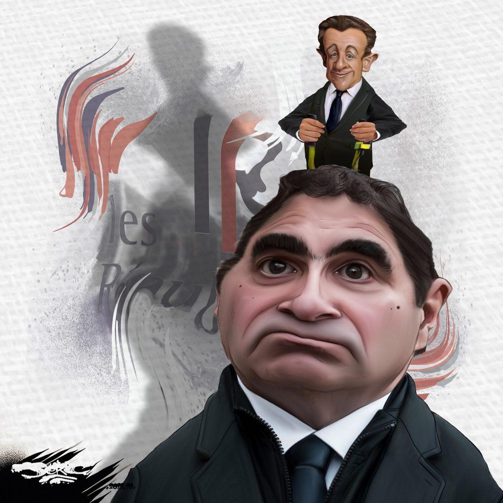 dessin d'actualité humoristique de Jerc sur l'élection de Christian Jacob à la direction du parti Les Républicains