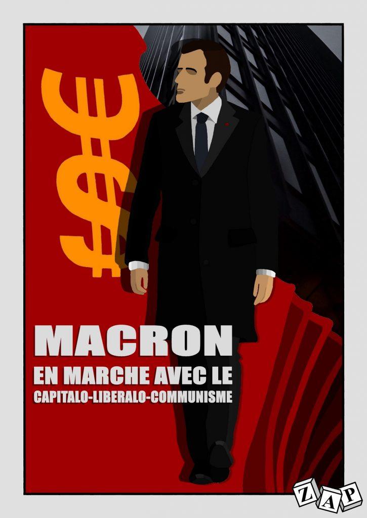 dessin d'actualité de Zap sur Emmanuel Macron et sa politique