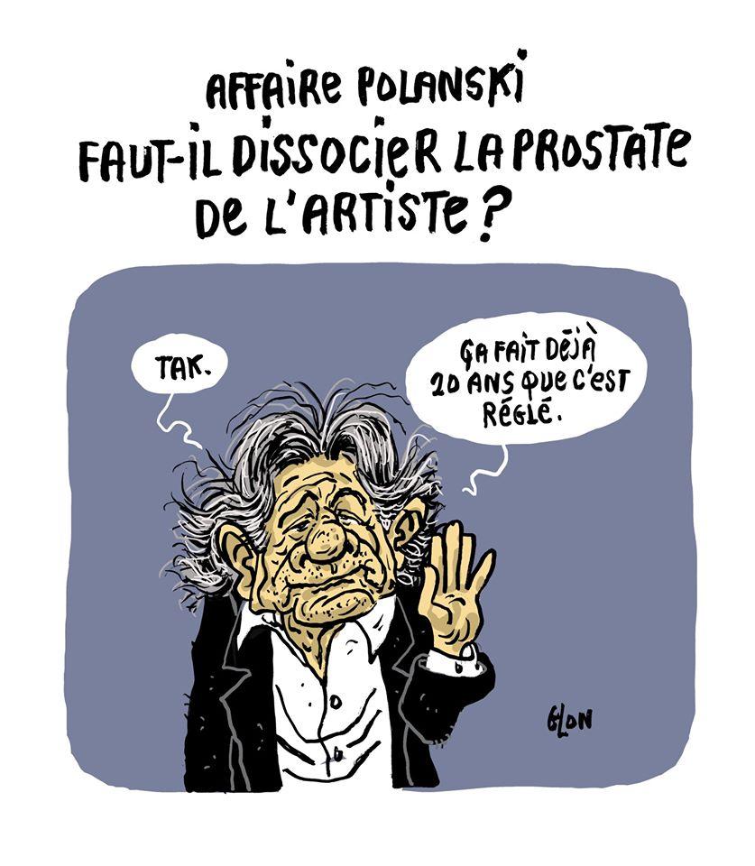 dessin humoristique de Glon l'affaire Polanski