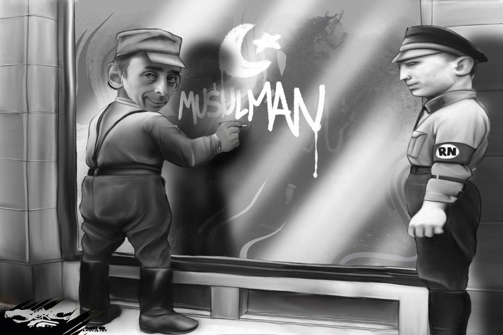 dessin d'actualité humoristique de Jerc sur Éric Zemmour et la montée de l'intolérance