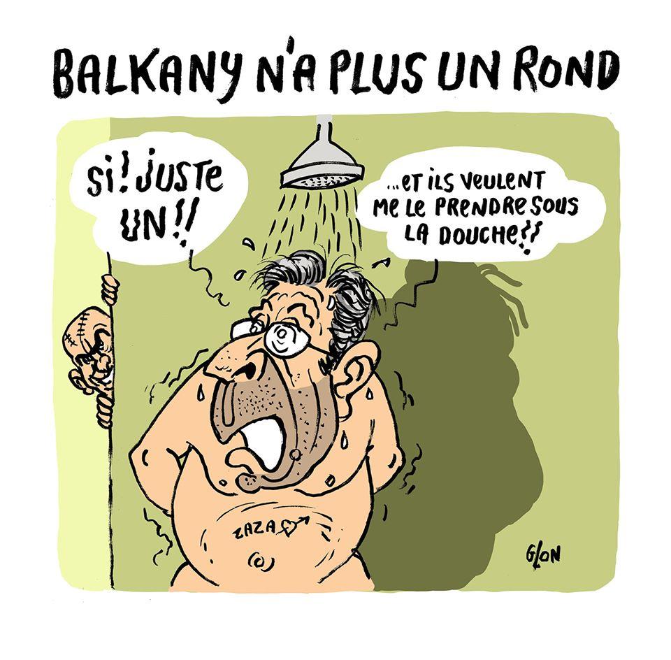 dessin humoristique de Glon sur Patrick Balkany en prison
