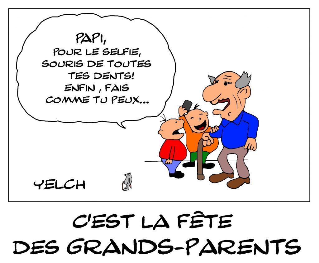 dessin de Yelch sur la fête des grands-parents