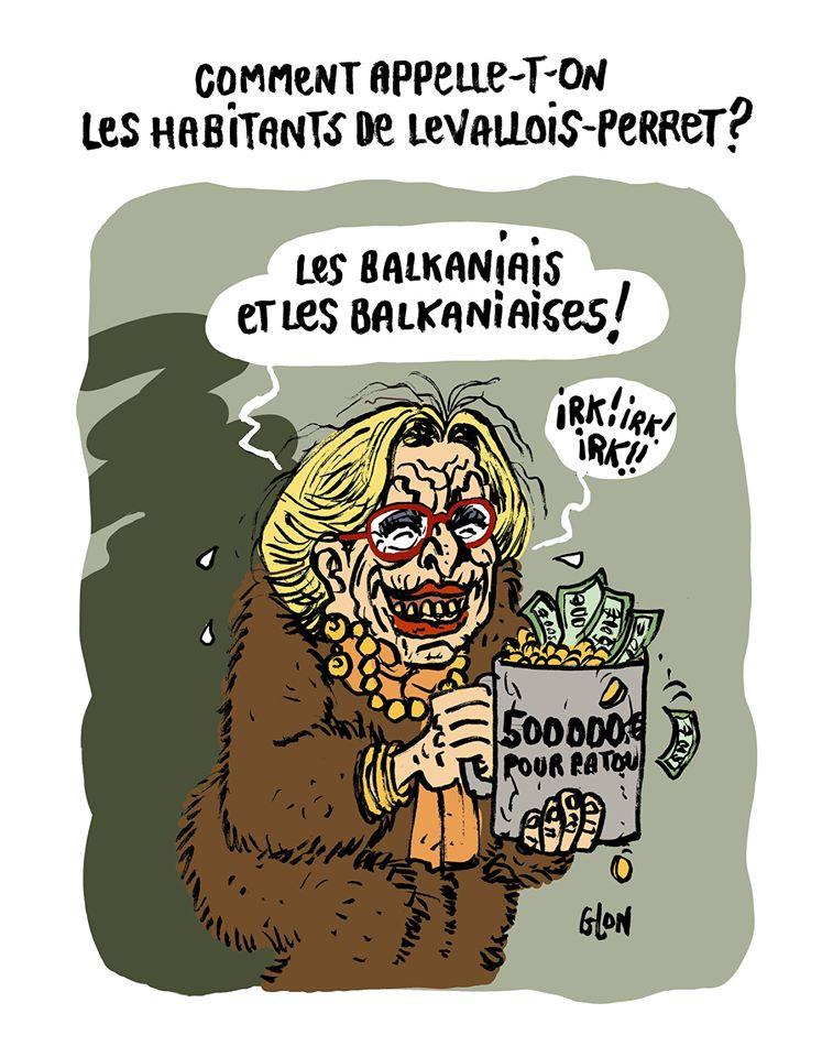 dessin humoristique de Glon sur la cagnotte lancée par un comité de soutien pour payer la caution de Patrick Balkany