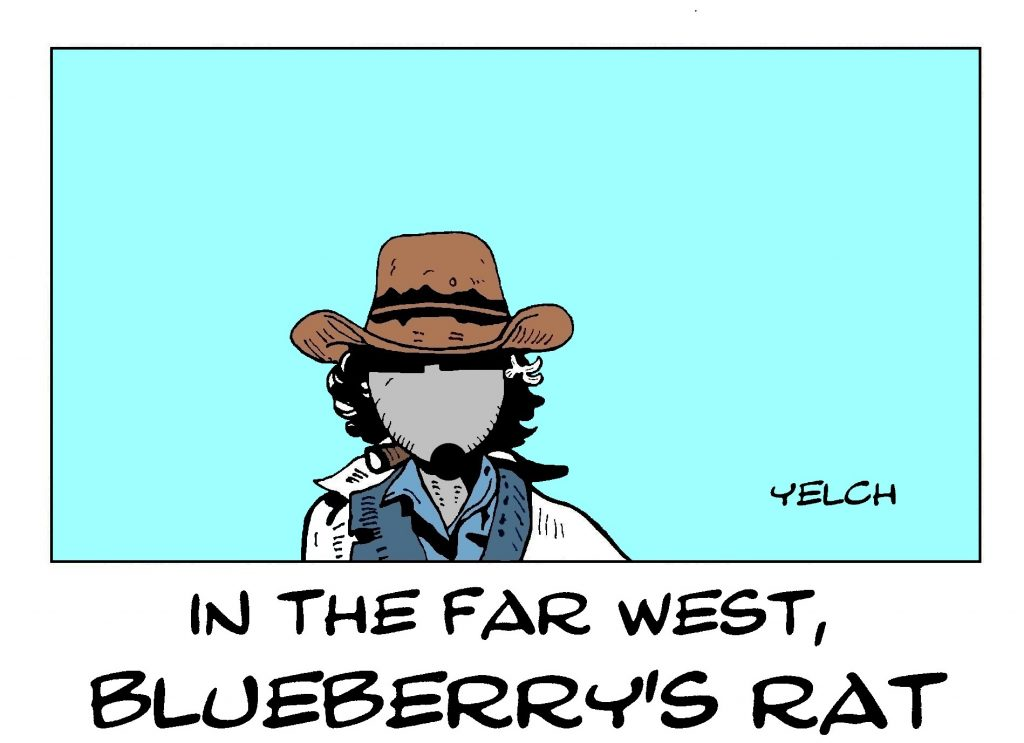 dessin de Yelch sur Mike Steve Donovan et Blueberry