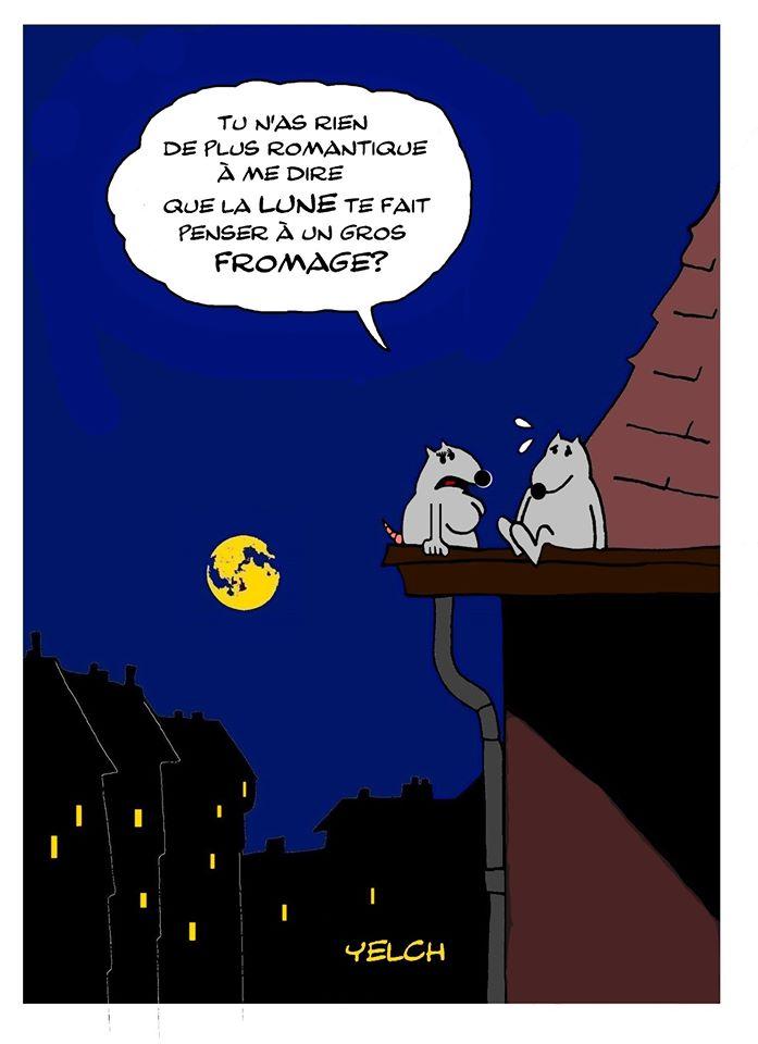dessin de Yelch sur le romantisme des rats