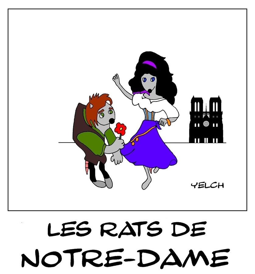 dessin de Yelch sur Notre-Dame de Paris