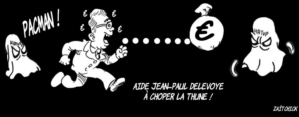 Dessin de Zaïtchick sur Jean-Paul Delevoye en Pacman