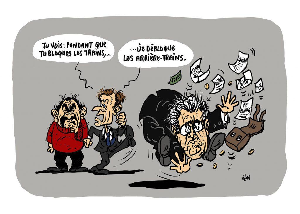 dessin humoristique de Glon sur la démission de Jean-Paul Delevoye