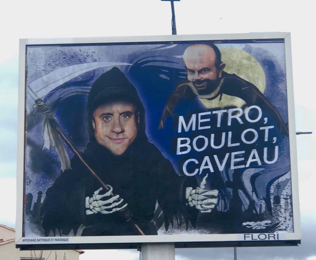 dessin d'actualité humoristique de Jerc sur Emmanuel Macron en fossoyeur et Édouard Philippe