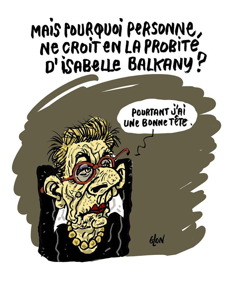 dessin humoristique de Glon sur Isabelle Balkany