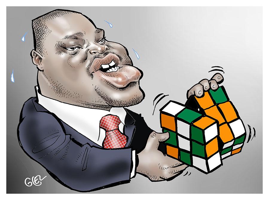 dessin humoristique de Glez les élections présidentielles en Côte d'Ivoire