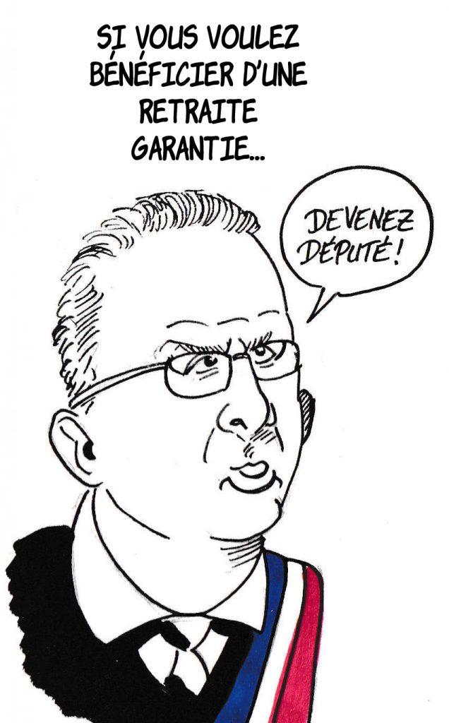 dessin de Zaïtchick sur Richard Ferrand et la réforme des retraites