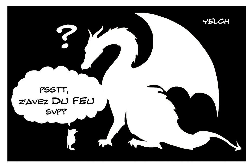 dessin de Yelch sur les dragons