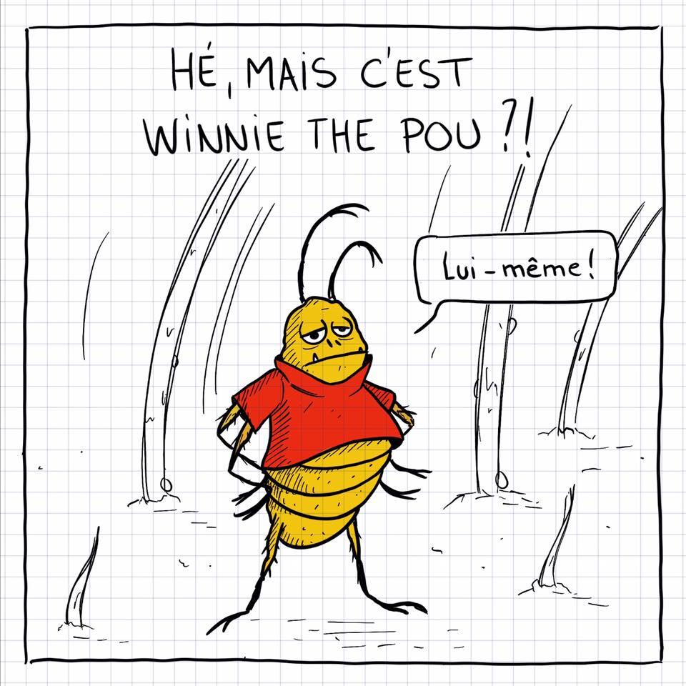 dessin de Cops sur Winnie l'ourson ou Winnie the Pooh et Winnie the Pou