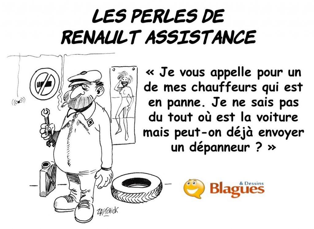 les perles de Renault assistance