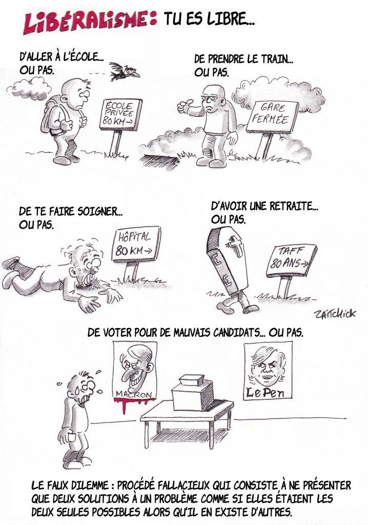 dessin de Zaïtchick sur les effets pervers du libéralisme