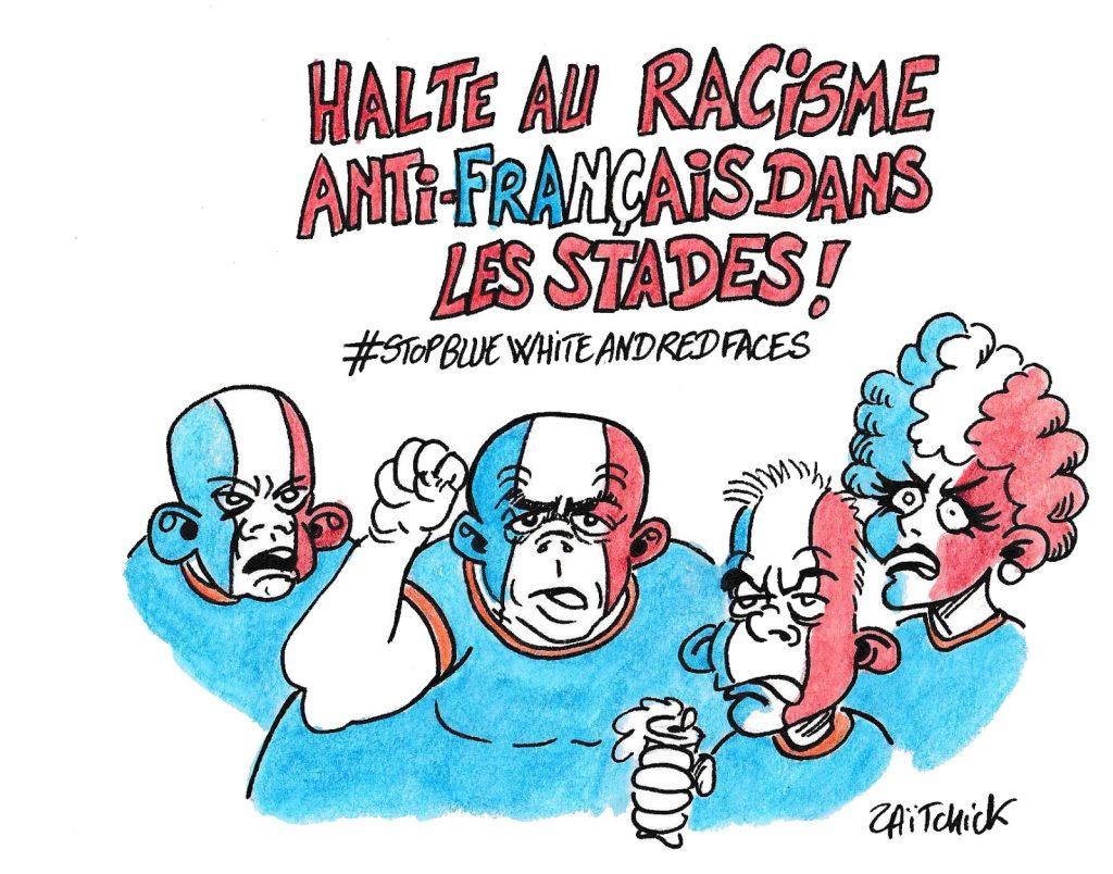 dessin humoristique de Zaïtchick sur le racisme anti-français
